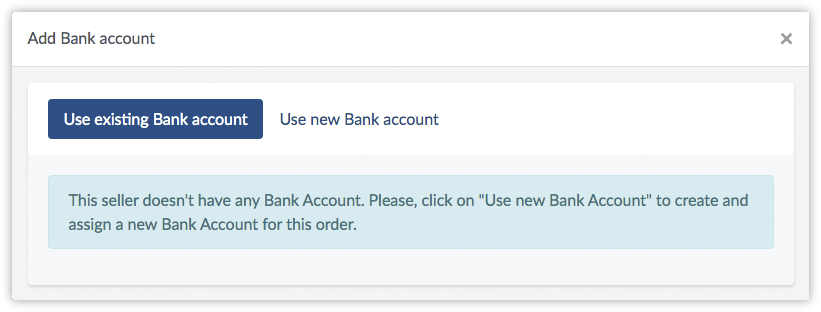use existing bank account