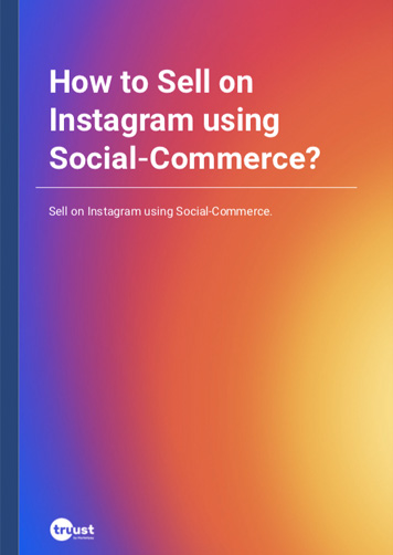 How to Sell on Instagram using Social-Commerce?